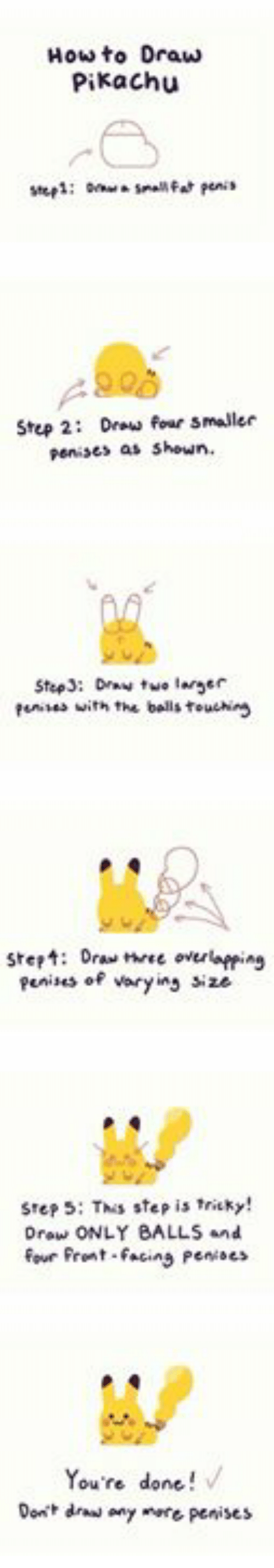 Funny pikachu and drawings how to draw pikachu step 2 draw four