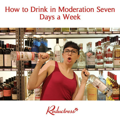 Moderation: How to Drink in Moderation Seven  Days a Week  REYKA  Bx