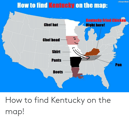 find: How to find Kentucky on the map!