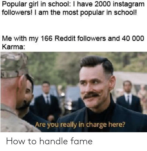 Handle Fame: How to handle fame