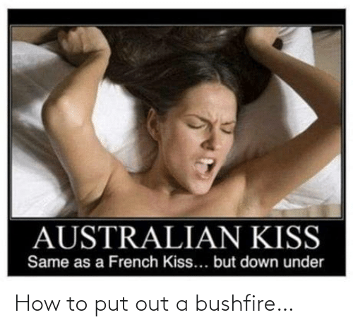 A: How to put out a bushfire…