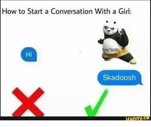 funny conversation with a girl