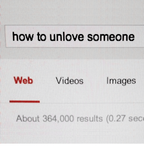 How to unlove a person