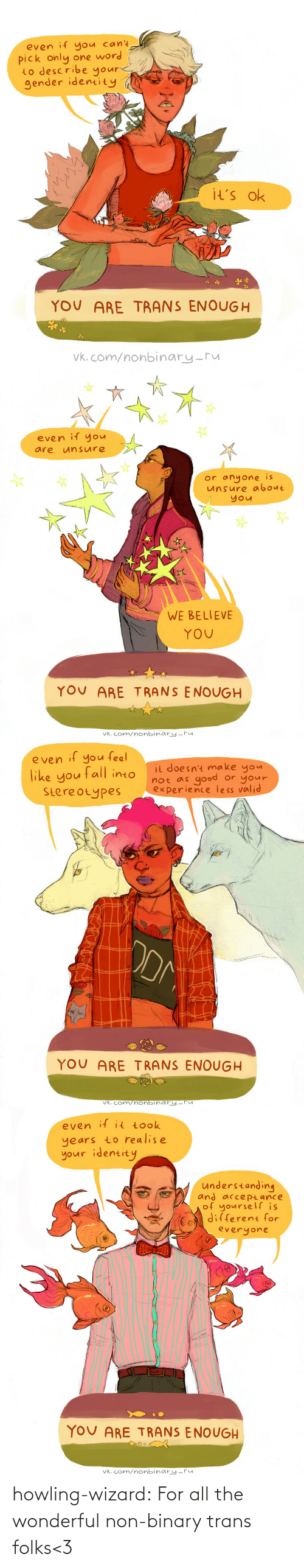 trans: howling-wizard: For all the wonderful non-binary trans folks<3