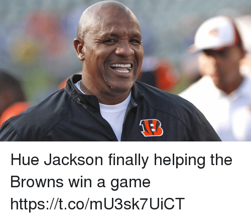 Football, Nfl, and Sports: Hue Jackson finally helping the Browns win a game https://t.co/mU3sk7UiCT