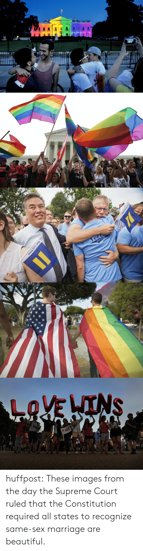 Beautiful, Marriage, and Sex: huffpost:  These images from the day the Supreme Court ruled that the Constitution required all states to recognize same-sex marriage are beautiful.