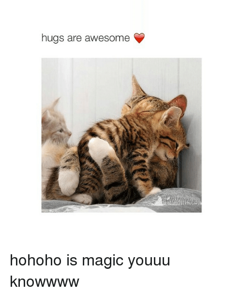 Hohoho: hugs are awesome hohoho is magic youuu knowwww