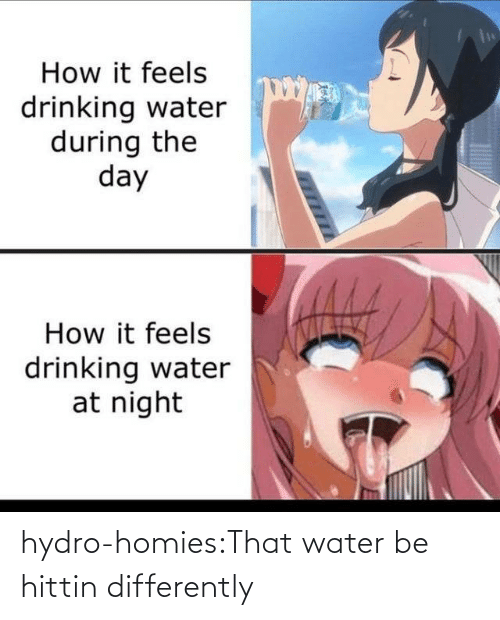 homies: hydro-homies:That water be hittin differently
