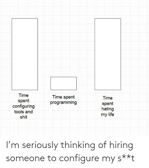 thinking: I'm seriously thinking of hiring someone to configure my s**t