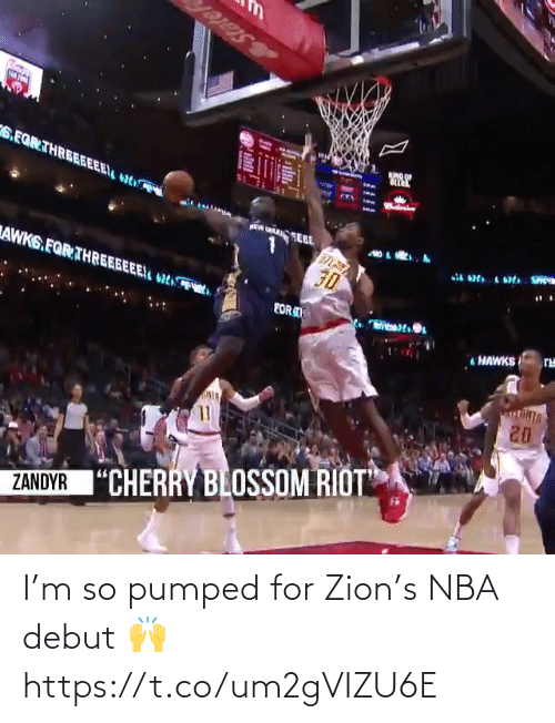 ballmemes.com: I'm so pumped for Zion's NBA debut 🙌 https://t.co/um2gVIZU6E