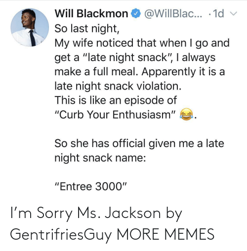 sorry ms jackson: I'm Sorry Ms. Jackson by GentrifriesGuy MORE MEMES