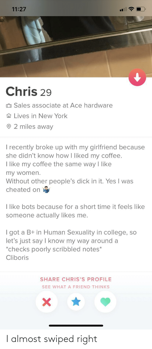 almost: I almost swiped right