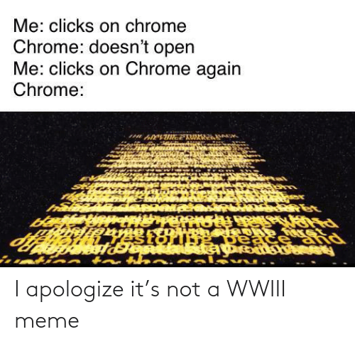 Not A: I apologize it's not a WWIII meme