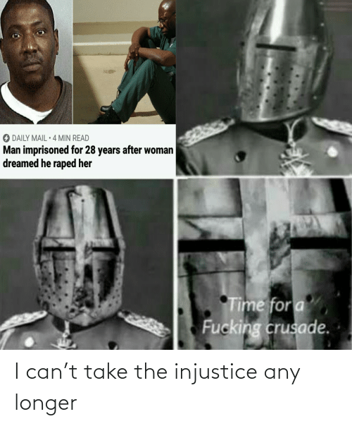 Any: I can't take the injustice any longer