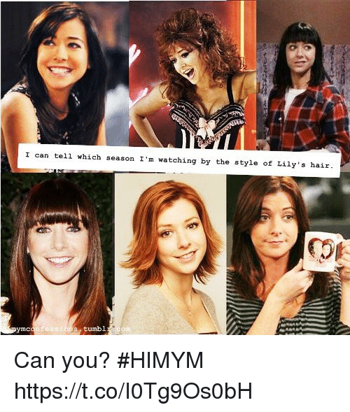 Telled: I can tell which season I'm watching by the style of Lily s hair  tumbl Can you? #HIMYM https://t.co/I0Tg9Os0bH