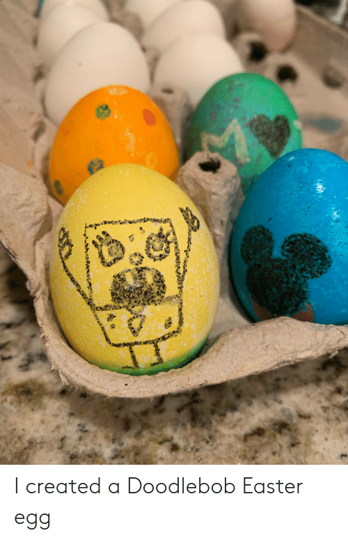 DoodleBob, Easter, and SpongeBob: I created a Doodlebob Easter egg