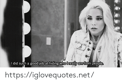 Good, Net, and Job: I did such a good job at hiding who lreally am from people https://iglovequotes.net/