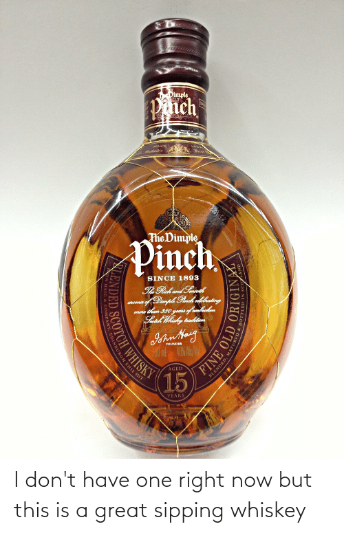 Sipping: I don't have one right now but this is a great sipping whiskey