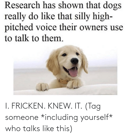 tag: I. FRICKEN. KNEW. IT. (Tag someone *including yourself* who talks like this)