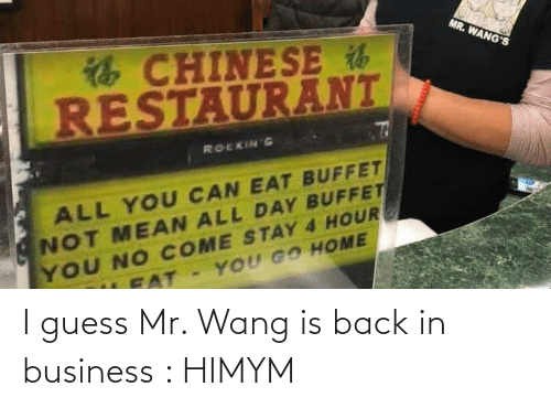 himym: I guess Mr. Wang is back in business : HIMYM