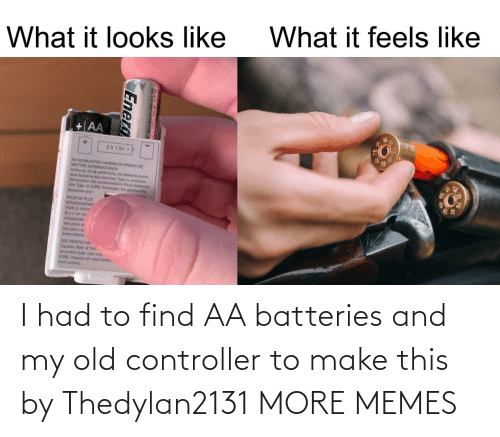I Had: I had to find AA batteries and my old controller to make this by Thedylan2131 MORE MEMES