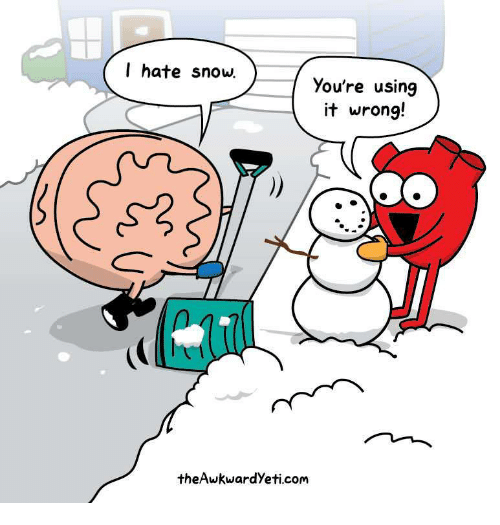 Snow, Com, and Using: I hate snow  You're using  it wrong!  theAwkwardYeti.com