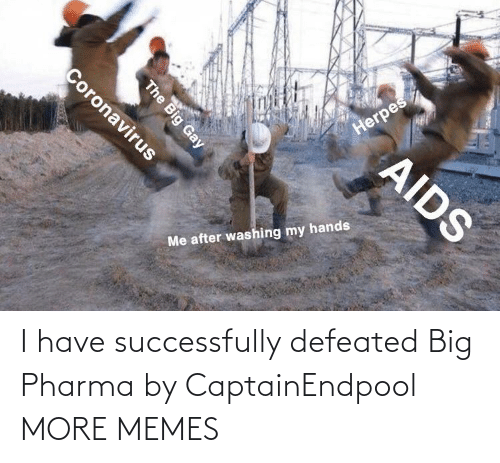 I Have: I have successfully defeated Big Pharma by CaptainEndpool MORE MEMES