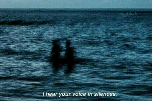 Voice, I Hear Your Voice, and  Hear: I hear your voice in silences.
