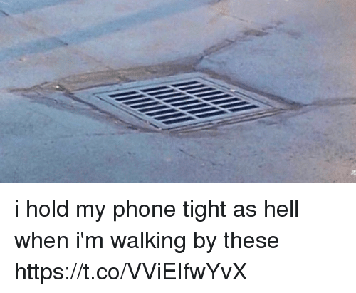 Memes, Phone, and Hell: i hold my phone tight as hell when i'm walking by these https://t.co/VViEIfwYvX