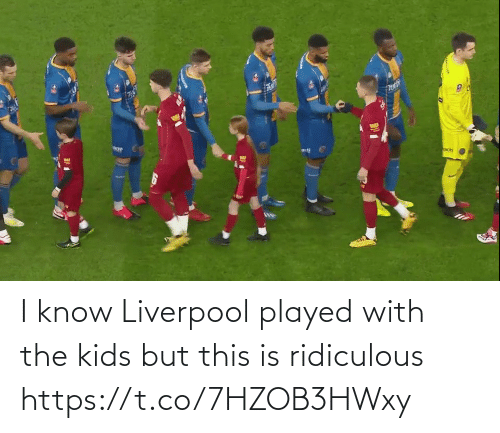 Memes, Liverpool F.C., and Kids: I know Liverpool played with the kids but this is ridiculous https://t.co/7HZOB3HWxy