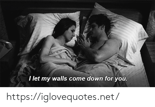 Net, Down, and You: I let my walls come down for you. https://iglovequotes.net/