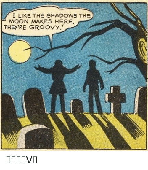 Shadows: I LIKE THE SHADOWS THE  MOON MAKES HERE  THEY'RE GROOVY. ᏀᖇᝪᝪᐯᎩ