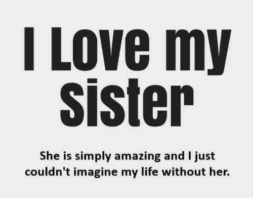 25 Best Memes About I Love My Sisters I Love My Sisters Memes
