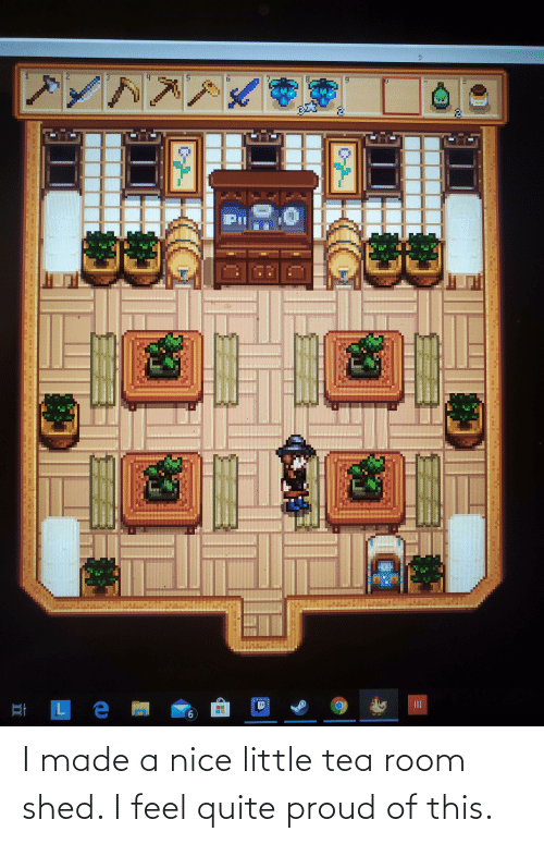 shed: I made a nice little tea room shed. I feel quite proud of this.