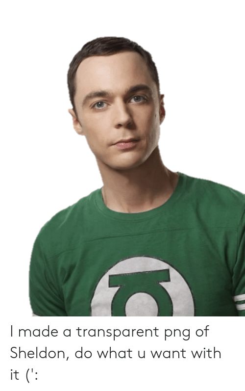 transparent png: I made a transparent png of Sheldon, do what u want with it (':