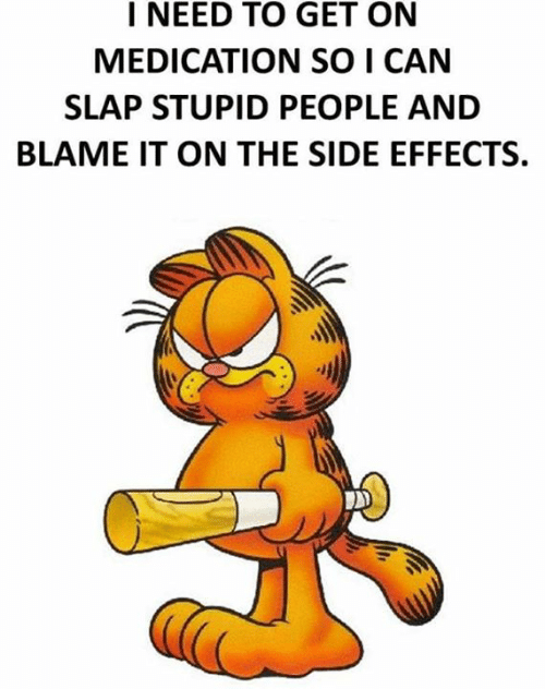 Memes, 🤖, and Can: I NEED TO GET ON  MEDICATION SO I CAN  SLAP STUPID PEOPLE AND  BLAME IT ON THE SIDE EFFECTS.