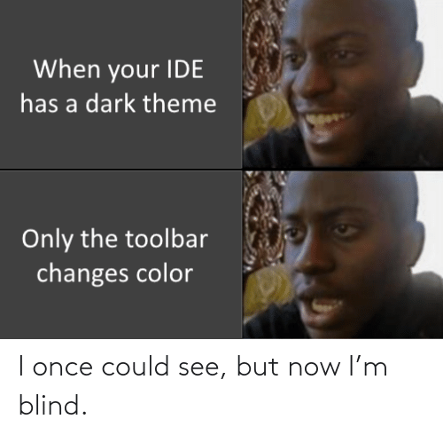 blind: I once could see, but now I'm blind.