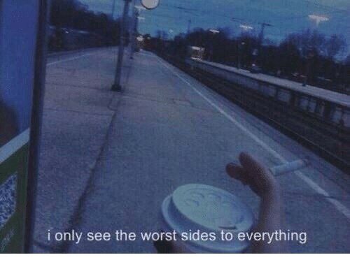 The Worst, Worst, and Everything: i only see the worst sides to everything