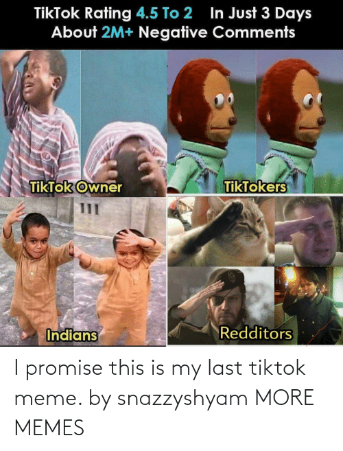 i promise: I promise this is my last tiktok meme. by snazzyshyam MORE MEMES