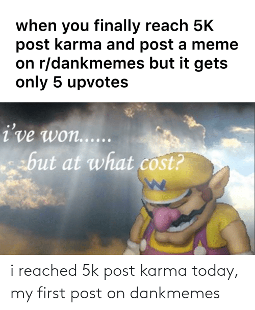 Dankmemes: i reached 5k post karma today, my first post on dankmemes