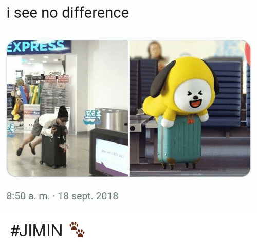 Sept, A&m, and Jimin: i see no difference  EXP  8:50 a. m. 18 sept. 2018 #JIMIN 🐾