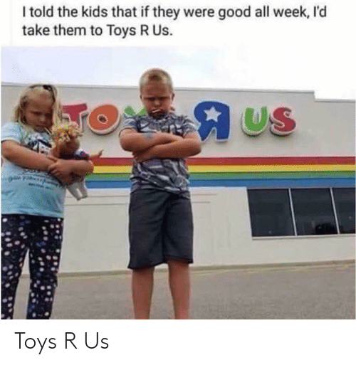 Toys R Us, Good, and Kids: I told the kids that if they were good all week, I'd  take them to Toys R Us.  US Toys R Us