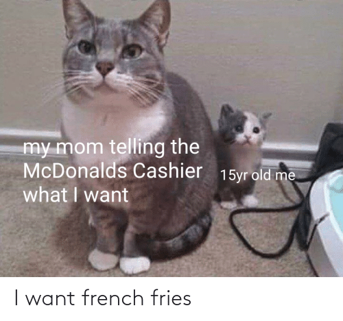 fries: I want french fries