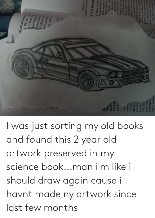 Book: I was just sorting my old books and found this 2 year old artwork preserved in my science book...man i'm like i should draw again cause i havnt made ny artwork since last few months