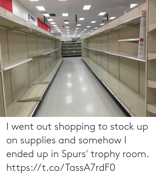 Spurs: I went out shopping to stock up on supplies and somehow I ended up in Spurs' trophy room. https://t.co/TassA7rdF0