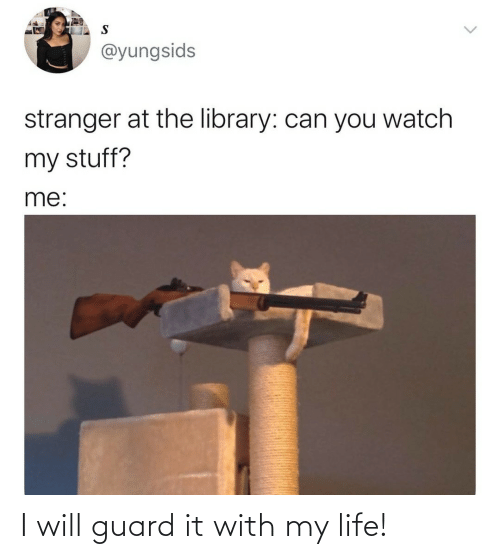 Guard: I will guard it with my life!