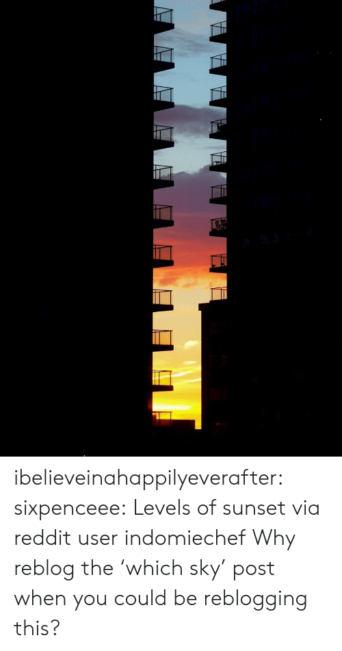 Reddit, Target, and Tumblr: ibelieveinahappilyeverafter:  sixpenceee: Levels of sunset via reddit userindomiechef Why reblog the 'which sky' post when you could be reblogging this?
