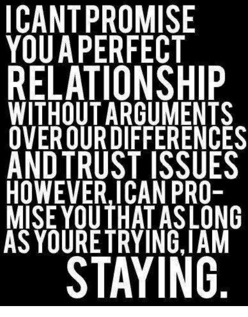 ICANT PROMISE YOUA PERFECT RELATIONSHIP WITHOUT ARGUMENTS