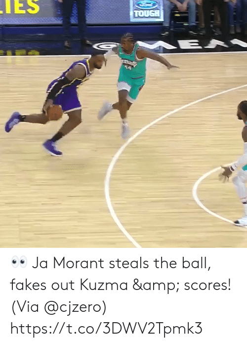 Scores: IES  TOUGH  E A 👀 Ja Morant steals the ball, fakes out Kuzma & scores!   (Via @cjzero)  https://t.co/3DWV2Tpmk3