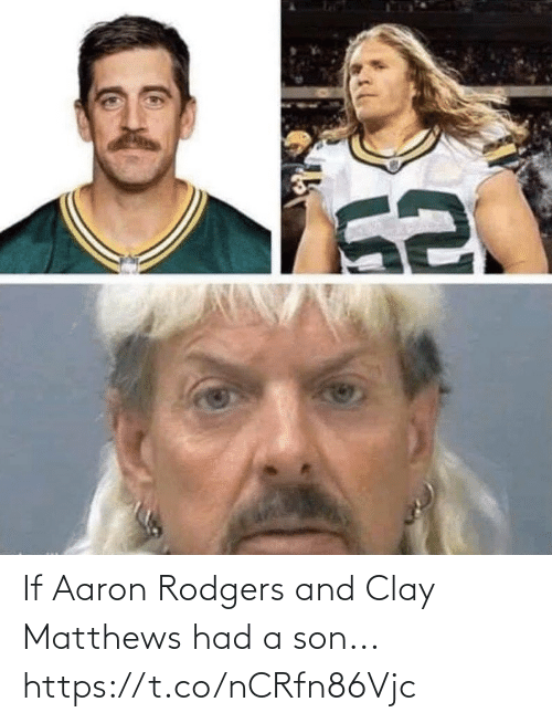 Aaron Rodgers, Football, and Nfl: If Aaron Rodgers and Clay Matthews had a son... https://t.co/nCRfn86Vjc